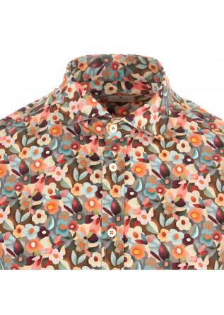 MEN'S SHIRT BASTONCINO | MULTICOLORED FLORAL PRINT