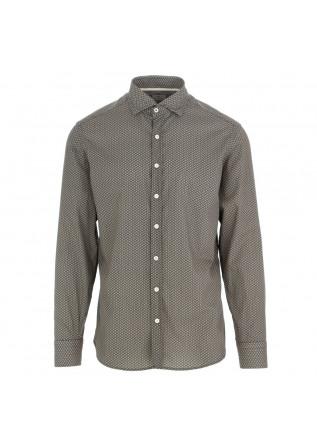 camicia uomo bastoncino nero beige