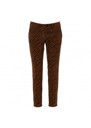 "pantaloni donna ""new york slim"" mason's marrone"
