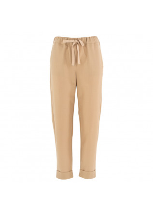 women's trousers semicouture beige