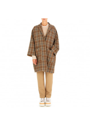 WOMEN'S COAT SEMICOUTURE | BROWN LIGHT BLUE