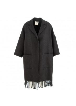 cappotto donna semicouture grigio lana