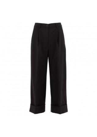 pantaloni a palazzo donna semicouture grigio