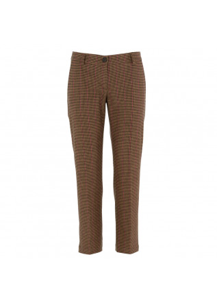 women's pants semicouture brown pink