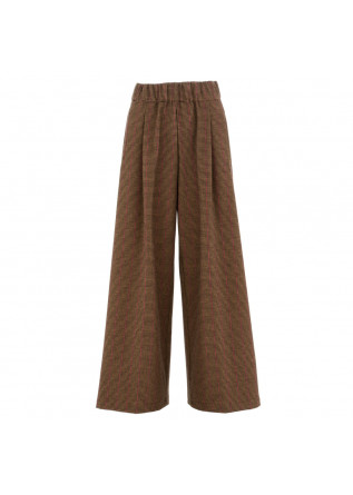 women's palazzo pants semicouture brown pink