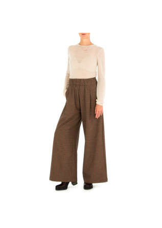 WOMEN'S PALAZZO PANTS SEMICOUTURE | BROWN PINK