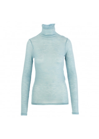 women's turtleneck semicouture light blue