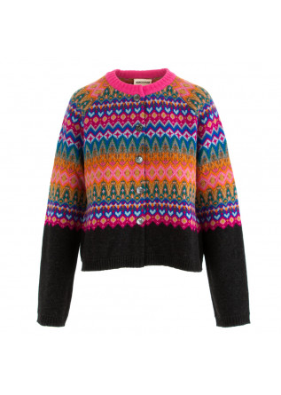 cardigan donna semicouture multicolor
