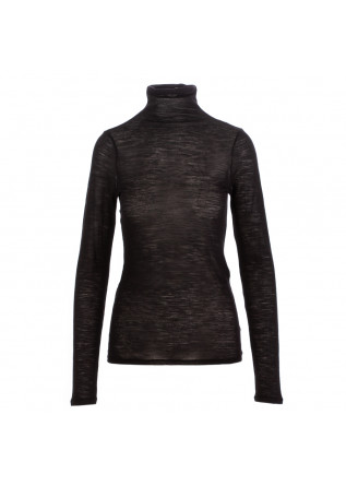 women's turtleneck semicouture black