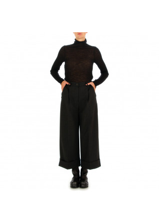 WOMEN'S TURTLENECK SEMICOUTURE | BLACK