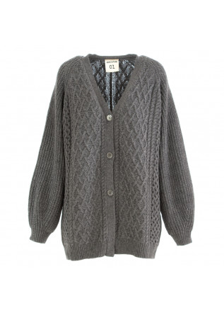 womens cardigan semicouture grey