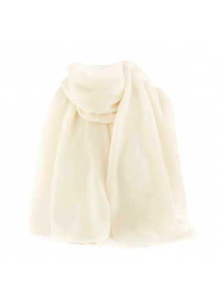 WOMEN'S STOLE RIVIERA   100% CASHMERE CREAM WHITE