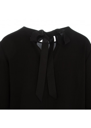 WOMEN'S DRESS SEMICOUTURE | BLACK VISCOSE