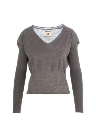 maglioncino donna semicouture grigio lana