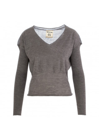 women's sweater semicouture grey wool