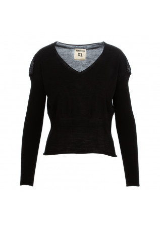 WOMEN'S SWEATER SEMICOUTURE | BLACK WOOL