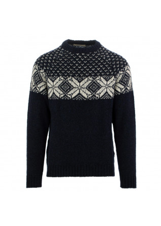 men's sweater wool & co blue
