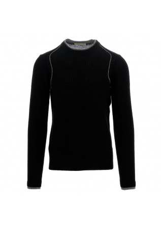 herrenpullover wool & co schwarz grau