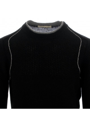HERRENPULLOVER WOOL & CO | SCHWARZ GRAU