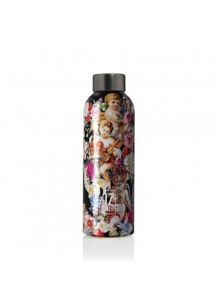 wasserflasche izmee holy bloom schwarz mehrfarbig