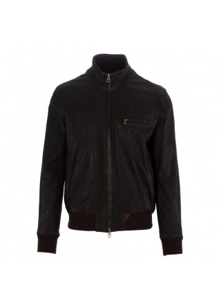 MEN'S LEATHER JACKET STEWART | BROWN