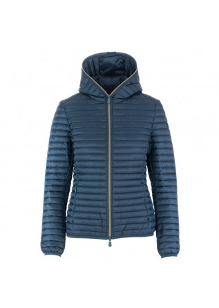 damen daunenjacke save the duck iris12 himmelblau