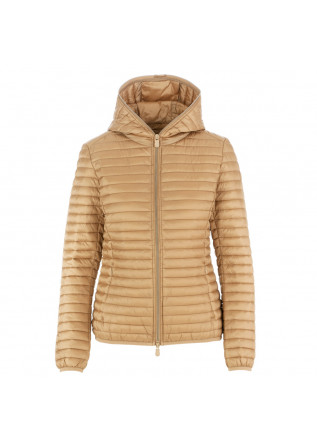women's jacket save the duck iris12 biscuit beige