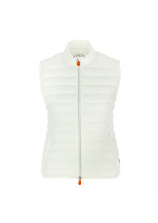 women's puffer vest save the duck giga12 white