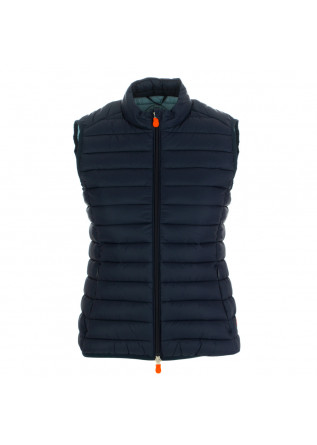women's puffer vest save the duck giga12 blue