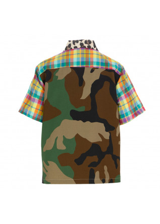 WOMEN'S SHIRT SEMICOUTURE | Y1SR20 CAMP MULTICOLOR