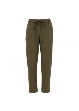 pantaloni donna semicouture verde militare