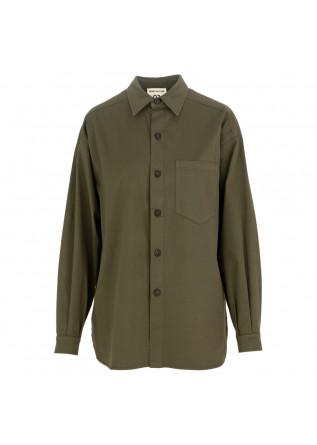 camicia donna semicouture verde militare