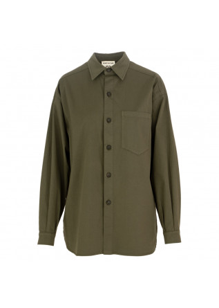 women's shirt semicouture military green