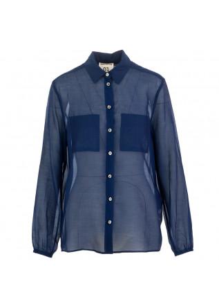 camicia donna semicouture blu