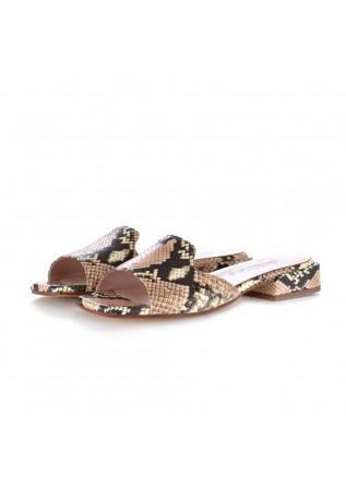 sabot sandali donna caterina c pitone rosa