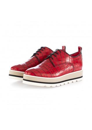 scarpe stringate donna caterina c rosso