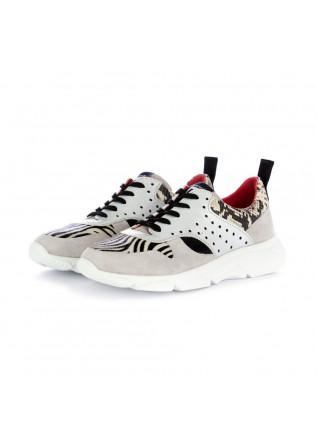 damen sneakers caterina c zebra silber