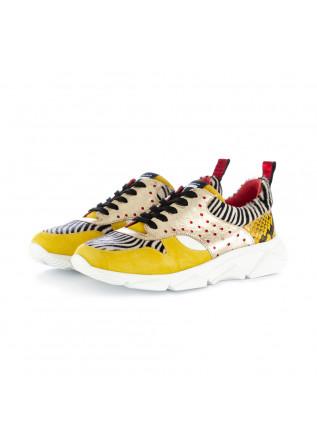 sneakers donna caterina c zebra giallo