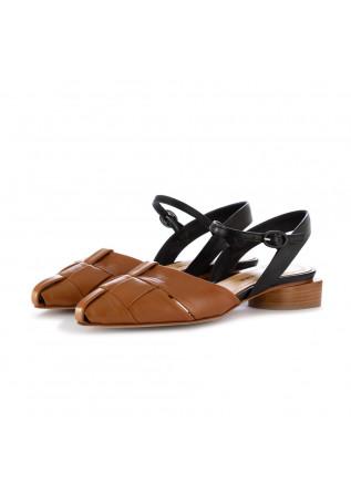 sandali donna halmanera marrone nero