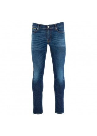 men's jeans care label dark blue