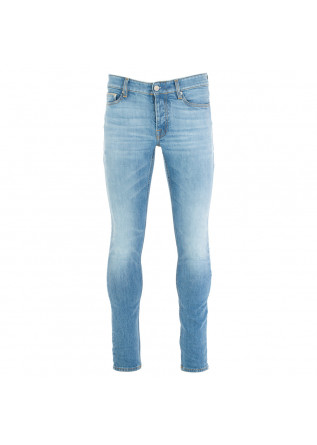 men's jeans care label light blue