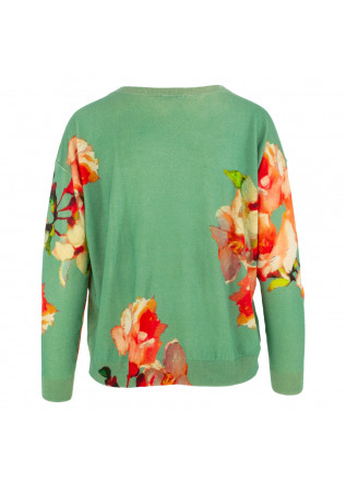 WOMEN'S SWEATER IN BED WITH YOU | HB16  COL.221 GREEN FLORAL