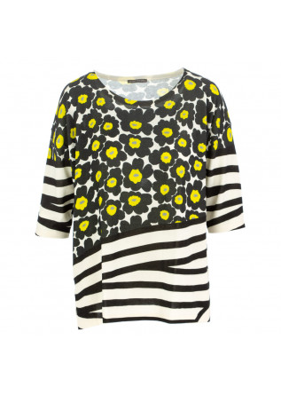 women's sweater in bed with you white black yellow