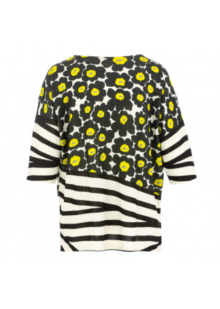 WOMEN'S SWEATER IN BED WITH YOU | HB06 COL.230 WHITE YELLOW BLACK