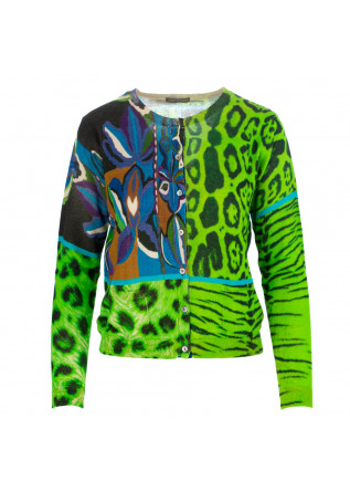 women's cardigan in bed with you green multicolor