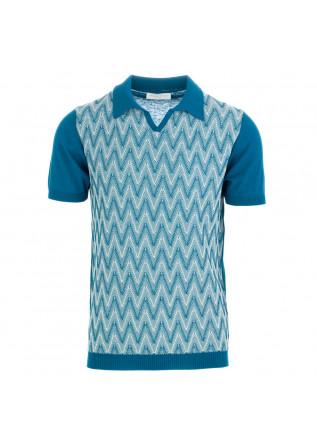 men's polo shirt daniele fiesoli turquoise