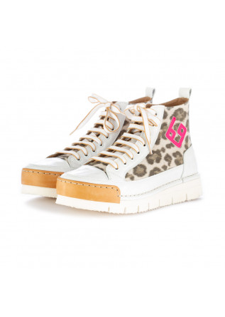 sneakers donna bng real shoes bianco leopard
