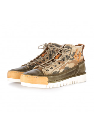 sneakers uomo bng real shoes verde mimetico