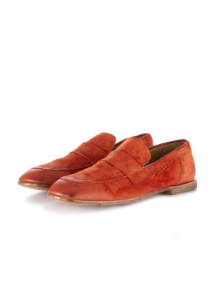 women's loafers moma brick red