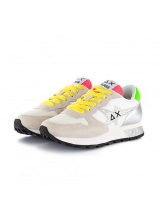 sneakers donna sun68 glitter bianco